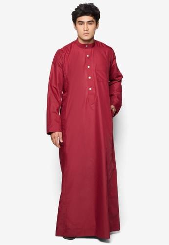 Amar Amran red Jubah A Regular Fit AM362AA23NBCMY_1