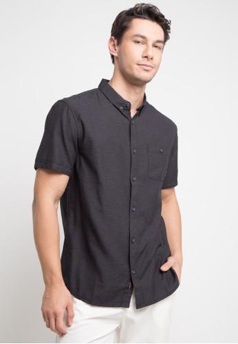 Quiksilver black Waterfalls Shirt 65EE5AA29B65D3GS_1