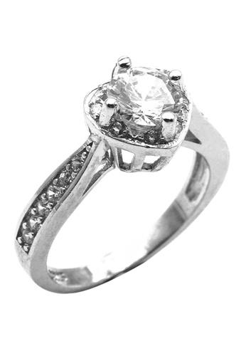 Elfi silver Elfi 925 Genuine Silver Engagement Ring P54 - The Heartthrob  EL186AC11OTKMY_1