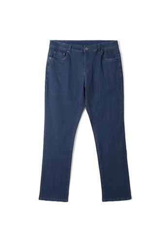 MS. READ blue Semi Boot Cut Jeans 974BEAAF1FA622GS_1