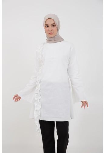 Hijabenka white Sephia Kasya Frill Tunic White 5B868AACE813EBGS_1