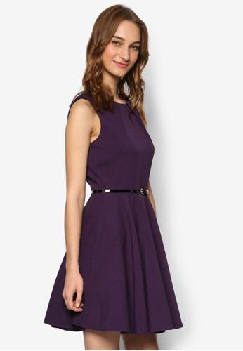 腰帶無袖修身喇esprit 台北叭連身裙, 服飾, 洋裝