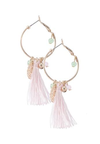 ALDO 粉紅色 圓圈耳環 95A17ACB879976GS_1