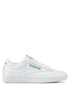 f3e3b17294d27 Reebok white and green Club C 85 Shoes RE691SH0SVX8MY 1