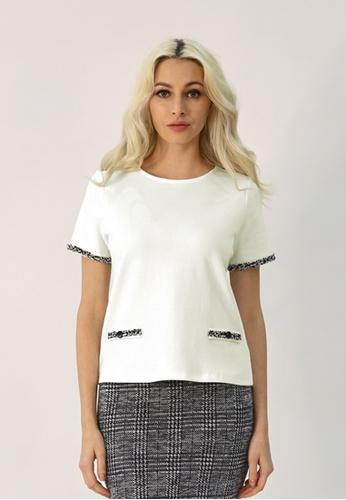 Cheetah white C.Union Short Sleeve Top - CUL-90922 6108BAAEC826E9GS_1