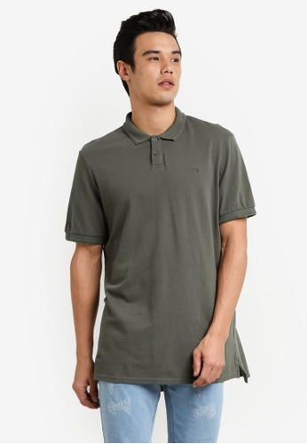 Cotton On green Short Sleeve Pigment Dyed Polo Shirt CO372AA0RCQFMY_1