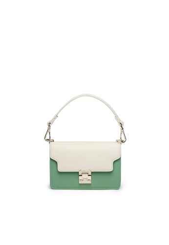 Maverick & Co. multi Maverick & Co. Artemis Miniature Crossbody (Moon White & Emerald Green) 0F666AC86D89F8GS_1