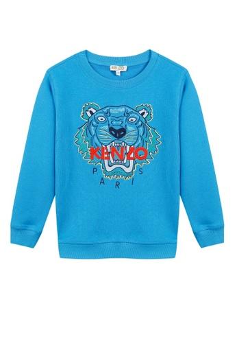 KENZO KIDS blue KENZO TIGER BOYS SWEATSHIRT D0F46KA43326FDGS_1