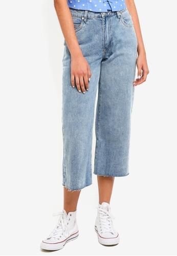Cotton On blue Mid Rise Wide Leg Crop Jeans 9D627AAE3050D9GS_1