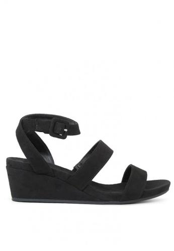 London Rag black Ankle-strap wedge sandal 93C61SH3FA3F87GS_1