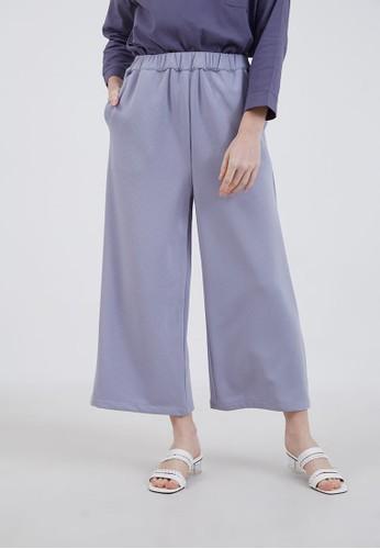 Berrybenka Label purple Sophie Lenara Pleats Cullote Light Purple 5ADE6AA06FB8F5GS_1