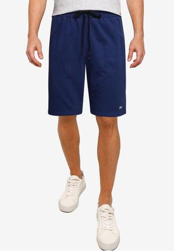 UniqTee 海軍藍色 Cotton Fitted Shorts 4BDF2AA80CB7F7GS_1