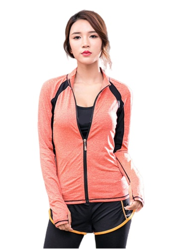 B-Code pink ZYG3050-Lady Quick Drying Running Fitness Yoga Sports Jacket -Pink 24C1EAA55B1377GS_1