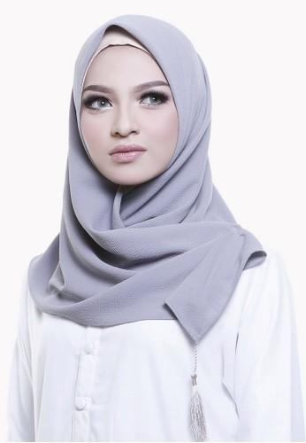 zelena grey Xylia Hijab Square - Steel Grey ZE872AA0UKWHID_1