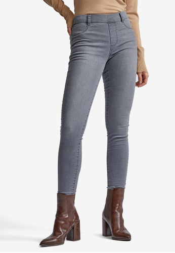 Dorothy Perkins grey Mid-rise Pull-on Jeggings 46A74AABA11F29GS_1