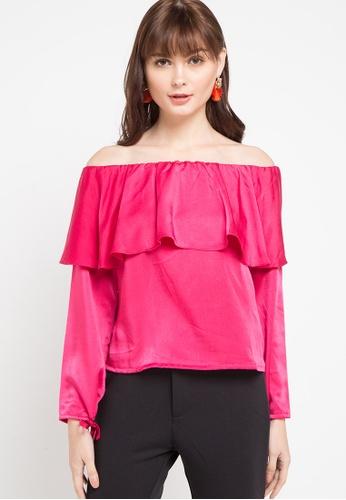 CHANIRA LA PAREZZA pink Chanira Trista Blouse A16E1AA94B5714GS_1