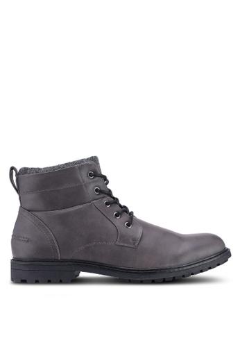 Burton Menswear London grey Grey Macbeth Worker Boots 3C242SHAB8078EGS_1