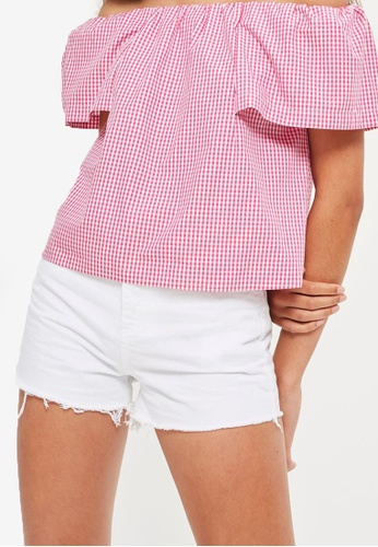 TOPSHOP white MOTO High Waisted White Mom Shorts TO412AA86TFTMY_1