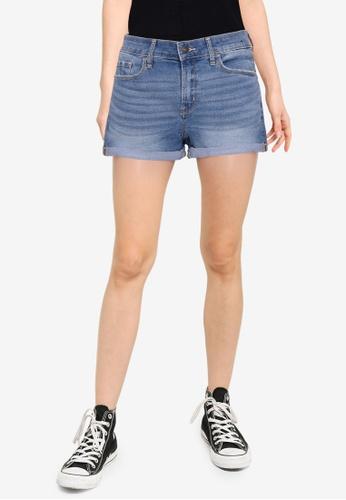 Abercrombie & Fitch blue Core Rise Denim Shorts A78E4AAA3D45B5GS_1