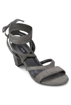 Elida 交叉多帶粗跟涼鞋