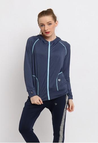 FITWEAR blue Fitwear - Border Thumb Jacket - Blue 08E95AA75D3C16GS_1