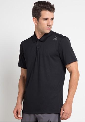 Reebok black Solid Polo Shirt 33E3EAACCF6D8AGS_1