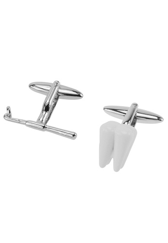 CUFF IT white Dentist Cufflinks CU047AC2UQPMHK_1