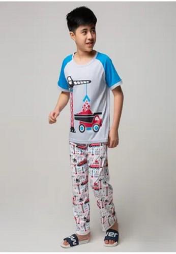 Boboo multi Piyama Anak Short Shirts Construction Cars SSLP31 75F74KA30DFC81GS_1