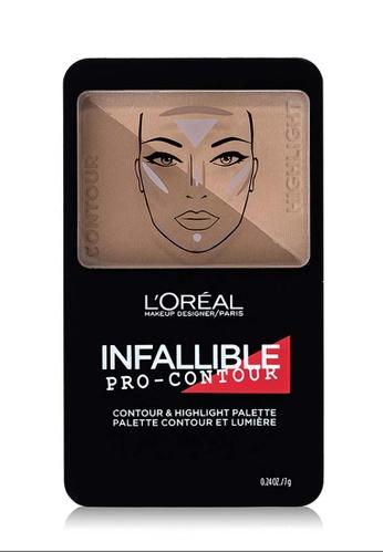 L'Oréal Paris beige L'Oreal Paris Infallible Pro Contour Palette 814 Medium Moyen 70F7DBE553EB8FGS_1
