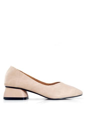 Twenty Eight Shoes 粉紅色 復古牛皮矮跟鞋 VL8181 6DC02SHFC083D6GS_1