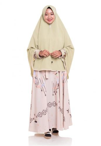 First Hijab brown Dress Nayla Set in Brown EEFCEAA57E1B47GS_1