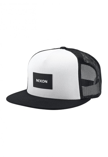 52c45545397 Nixon multi Nixon - Team Trucker Hat - White Black (C2167005)  NI855AC71RRKSG 1