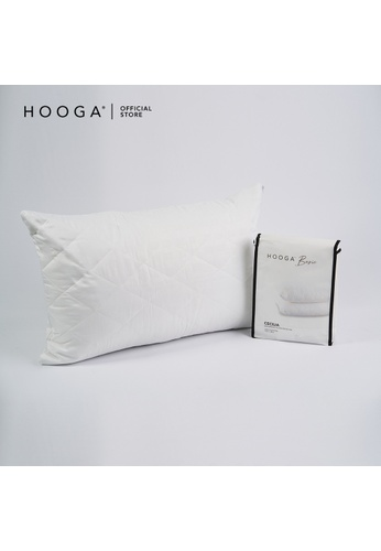 HOOGA white Hooga Waterproof Mattress Pillow Protector Cecilia. 49601HLD7E754BGS_1