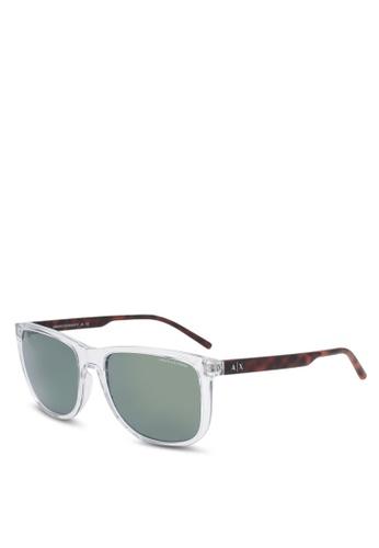 Armani Exchange white Armani AX4070SF Sunglasses AR162GL0SEQ2MY_1