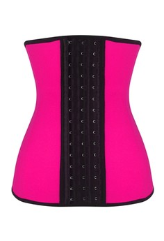 Waist Trainer 4 Steel Boned Pink Latex - Great for Gym Use and Heavy Work out