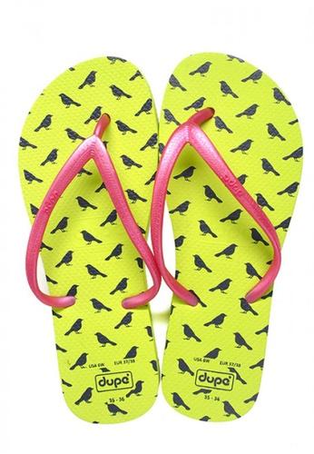 Dupe green Dupé CLASSIC Green/Pink Flip Flops DU634SH16WRFHK_1