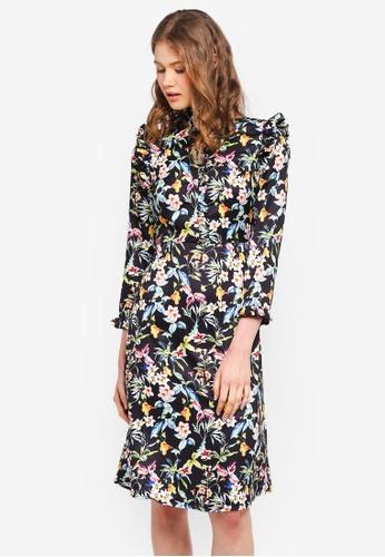 Vero Moda black Lily-Rose 7/8 Dress 377C0AAE16E562GS_1