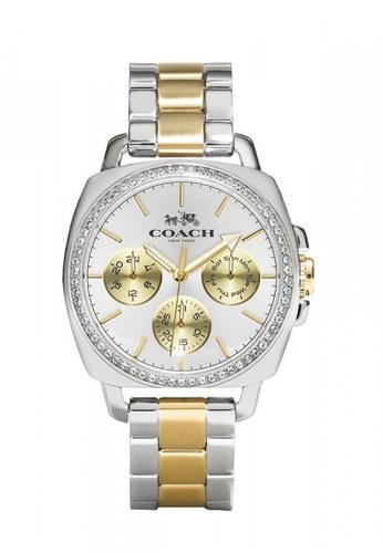 Coach silver and gold COACH Boyfriend Glitz Bracelet Two-tone Women Watch A7755ACEA42392GS_1