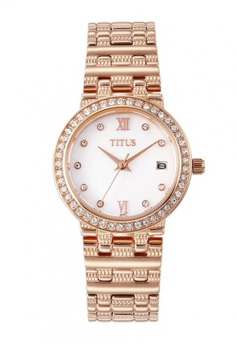 Solvil et Titus white and silver and gold Fair Lady Women's Quartz Analog Watch in Crystal Bezel and Stainless Steel Bracelet 2DD3EAC79C40C0GS_1