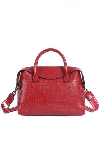 Twenty Eight Shoes red VANSA Fashion Crocodile Leather Tote Bag VBW-Tb2116 754BDACAC8E195GS_1