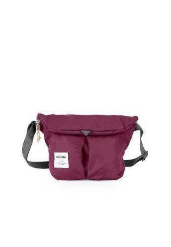 Hellolulu red Hellolulu Mini Kasen All Day Shoulder Bag (Wine) 3D064ACD4849D6GS_1