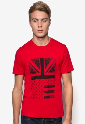 印花圓領T 恤, 服esprit地址飾, T恤