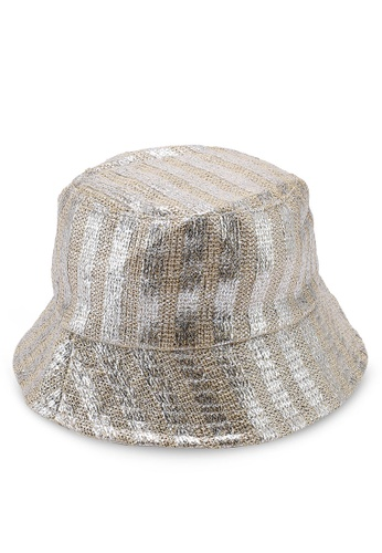 OVS 黃色 金屬感漁夫帽 C09BDAC41D92DBGS_1