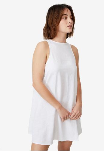 Cotton On white Woven Sunset Mini Sleeveless Shift Dress 209B7AA06B34C6GS_1