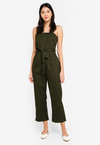 a6c62bd4708 Cotton On green Pinafore Jumpsuit F5F4BAA5A42648GS 1