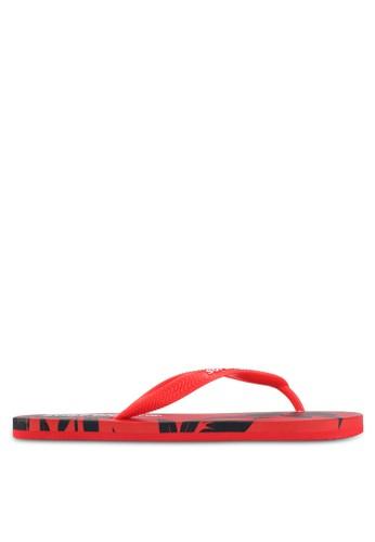 Superdry red Super Sleek Aop Flip Flops 8713FSHEB86D1DGS_1