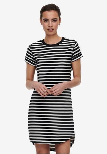 JACQUELINE DE YONG black Ivy Stripe Dress 9909DAAF753D15GS_1