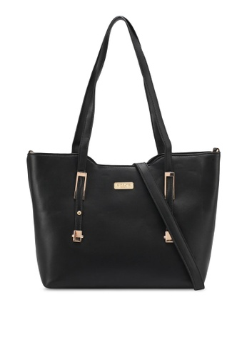 Unisa black Faux Leather Convertible Tote Bag UN821AC0SRUWMY_1