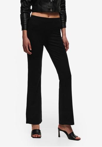JACQUELINE DE YONG black Pretty Flare Pants 95E5FAA692F4B3GS_1