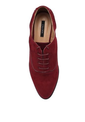 ZALORA red Minimalist Classic Oxfords 82C3BSH878EEAAGS_1